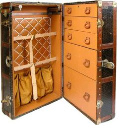 Vintage Goyard wardrobe trunk. Nice condition. | eBay