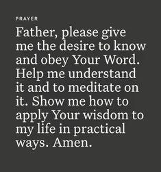Prayer Scriptures, Bible Prayers, Catholic Prayers, Faith Prayer, God Prayer, Prayer Quotes, Bible Verses Quotes, Faith Quotes, Good Night Prayer