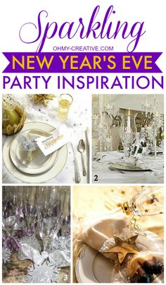 Sparkling New Year's Eve Party Inspiration | OHMY-CREATIVE.COM
