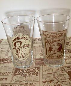 Vintage Coca Cola Glasses Tumbles Two Set Pair by ozarksfinds, $19.99