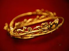 BRACELET found, digging in northern Bulgaria have unearthed a 2,400-year-old Thracian tomb teeming with meticulously crafted gold jewelry and artifacts. ca. 2400 B.C.