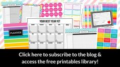 free printables library all about planners editable calendar planner cover stickers bill pay checklist template labels