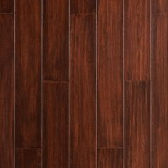 Lanark Hand Scraped Locking Water-Resistant Stranded Engineered Bamboo - x 5 - 100279611 Cherry Wood Stain, Oak Wood Stain, Aquaguard Flooring, Flooring Options, Staining Wood Floors, Hardwood Floors, Floor Preparation, Home Depot Carpet, Parts Of Stairs