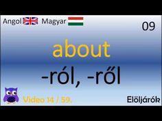 14/59 Elöljárók (Magyar - Angol Szavak)(English - Hungarian top words) (Angol szókincs gyakorló) - YouTube Cc Video, Learn English, Grammar, Learning, Youtube, Learning English, Studying, Teaching, Youtubers