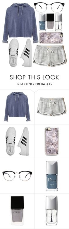 """""""Relaxing Day"""" by lovely-lizzye ❤ liked on Polyvore featuring Miss Selfridge, Hollister Co., adidas, Christian Dior and Witchery"""