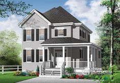 southern farmhouse plans fashioned house plans - 28 images - fashioned craftsman house plans, southern farmhouse plans fashioned house plans, southern house plans with wrap around porch mediterranean, fashioned country home plans, southern farmhouse plans Southern Farmhouse, Southern House Plans, Country Style House Plans, Farmhouse Plans, Small House Plans, House Floor Plans, Style At Home, Plan Chalet, Drummond House Plans