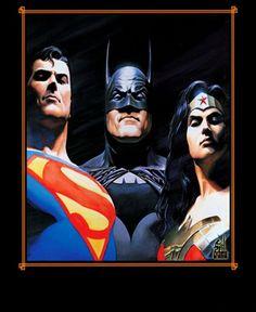 Superman, Batman, Wonder Woman (Alex Ross Art)