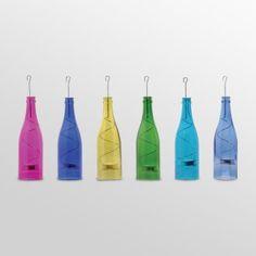 wine bottle tea light holders