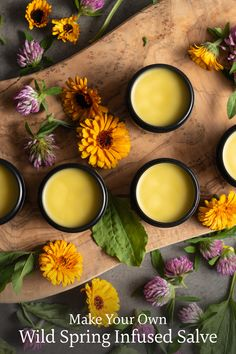 Spring is a special time of year. Learn how to savor the season by making your own infused skin salve with wild spring herbs like red clover, plantain, and chickweed. Tap for our herbal recipe! #traditionalmedicinals #organic #tea #herbs #natural #spring #equinox #season #garden #gardening #bodycare #beauty #herbal #oil Healing Herbs, Medicinal Herbs, Natural Healing, Herbal Remedies, Natural Remedies, Homemade Cough Syrup, Orange Essential Oil, Essential Oils, Aromatherapy Recipes