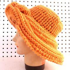Crochet Pattern Crochet Hat Pattern Womens hat FRONTIER Wide Brim Hat