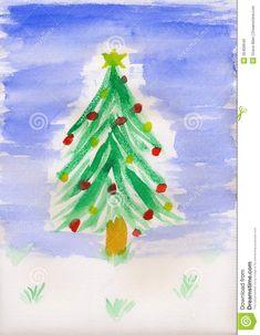 schilderij kerstboom - Google zoeken