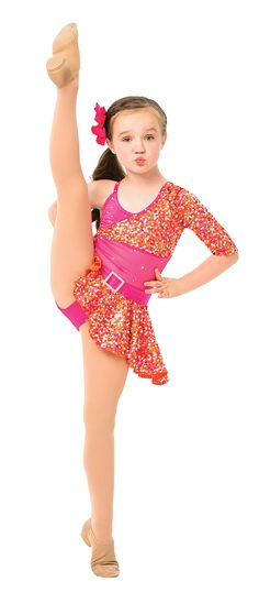Kick-start May with adorable costumes kiddos will go crazy for, like this bright and sparkly sequined skirt and top combination by Reverence Performance Dance Apparel. #FashionFriday