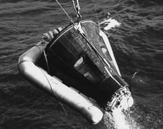 """Astronauts Virgil I. """"Gus"""" Grissom and John Young launched on the Gemini 3 mission on March 23, 1965.  Because Grissom's Mercury spacecraft, Liberty Bell 7, had sunk at the end of his 1961 mission, he unofficially named Gemini 3 """"Unsinkable Molly Brown."""" Gemini 3 was the first crewed mission of Project Gemini, which aimed to test long-duration missions, rendezvous and docking between two space vehicles, and EVA or """"spacewalking."""""""