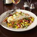 steamed halibut with vegetables