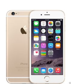 The Apple iPhone 6 Gold represents Apple's second largest departure in terms of design since the iPhone and starts in an era of rounded aesthetics. Equipped with a display, the Apple iPhone 6 Gold is also much larger than its ancesto Iphone 6 Gold, Buy Iphone 6, Iphone 6 16gb, Iphone Phone, Phone Cases, Iphone Unlocked, Unlocked Smartphones, Phone Charger, Apple Iphone 6