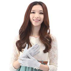 Baoze Season Female Cotton Gloves UV Protection Bow Short Paragraph Car Sunscreen Skin Care Gloves Gloves 18193382601