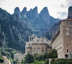 Montserrat, Catalonia. Most gorgeous drive to get to look at this!!! One of my favorite places in Spain.