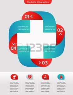 Medical and healthcare Hintergrund Infografik Lizenzfreie Bilder