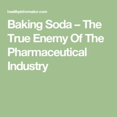 Baking Soda And This is The Worst Nightmare Of The Pharmaceutical Industry - Healthy Food House Healthy Drinks, Healthy Recipes, Healthy Food, Pissed Off, Natural Home Remedies, Home Recipes, Health Remedies, Baking Soda, Health And Beauty