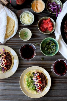 Spicy Black Lentil Tacos with Ancho Crema