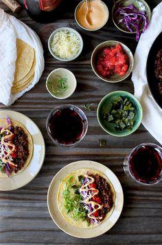 Spicy Black Lentil Tacos with Ancho Crema - CaliZona