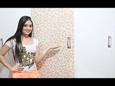 DIY/Faça você mesmo: Revestindo o guarda-roupa com papel contact ♥ - YouTube
