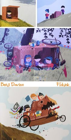Fishinkblog 8094 Benji Davies 4 Check out my blog ramblings and arty chat here www.fishinkblog.w... and my stationery here www.fishink.co.uk , illustration here www.fishink.etsy.com and here carbonmade.com/.... Happy Pinning ! :)