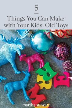 These are a few useful home decor items you can make from used kid toys that will add style to any room. From dinosaur planters to jewelry racks made from game pieces, here are five ideas that are every bit as fun to upcycle as they are to look at. #marthastewart #diyideas #kidideas #funideas #kidfriendlyactivities
