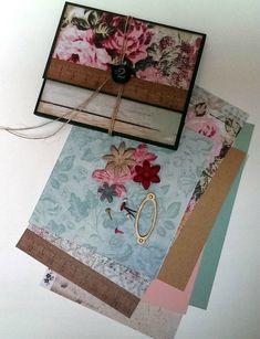 mini pochette Kaisercraft lot2 Album Photo Scrapbooking, Scrapbook Albums, Stamping Up, Decorative Boxes, Crochet, Mini Albums, Day Planners, How To Make Scrapbook, Tuto Mini Albums