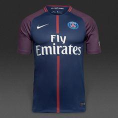 613011839da6c PSG 2017 18 Home Men Soccer Jersey Personalized name and number. Camisetas  De FútbolUniformes ...