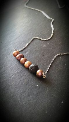 Essential Oil Necklace Diffuser  Lava Rock Jewelry by AuraStrands