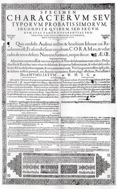 Muestrario de las tipografías de Claude Garamond