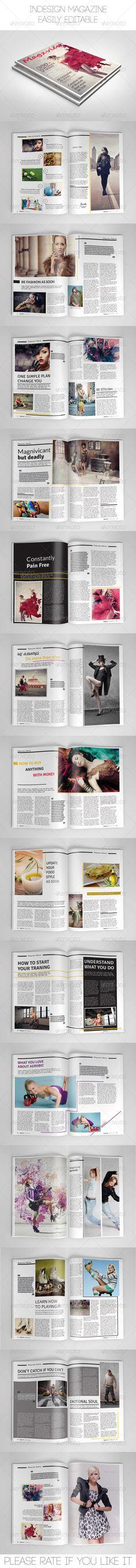 Minimal magazine template | Print templates, Magazines and Indesign ...