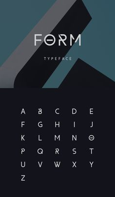 Form, a free font designed by Wassim Awadallah.