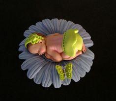 Moule silicone nouveau bébé fille mots douche naissance Cupcake topper décoration fimo