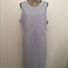Grey Dress This is an Old Navy sleeveless dress, size XXL. It is grey & has a sweater like feel to it. It has a side zipper. Can be dressed up or down. Brand new. Old Navy Dresses