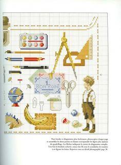 ru / Фото - Veronique Enginger-Souvenirs d´enfance - Chispitas Cross Stitch For Kids, Cross Stitch Boards, Cross Stitch Baby, Funny Cross Stitch Patterns, Cross Stitch Designs, Diy Embroidery, Cross Stitch Embroidery, Cross Stitch Numbers, Cross Stitch Quotes