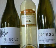 Weinrunde am 24.5.2012, dazu kam noch ein weiterer Weissburgunder vom Weingut Klaus Böhme (Saale Unstrut, 2009)