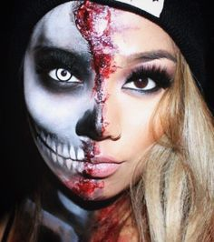 the pretty halloween makeup ideas that let us feel beautiful on the spookiest of holidays - Halloween Skeleton Makeup Ideas