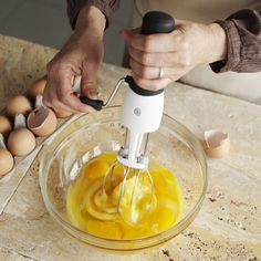 Just in case you like your eggs EXTRA scrambled. OXO Egg Beater | Williams-Sonoma
