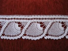 This Pin was discovered by Nag Crochet Cross, Crochet Art, Filet Crochet, Cute Crochet, Crochet Motif, Crochet Doilies, Crochet Stitches, Crochet Patterns, Crochet Borders