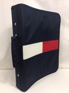 Tommy Hilfiger Three 3 Ring Binder Notebook School Supply Flag Logo Zip Handle | Home & Garden, Kids & Teens at Home, School Supplies | eBay!