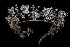 Diamond ivy leaf tiara.