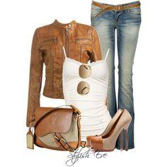 #leatherjacket #heels