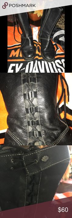 Harley Davidson riding boots Harley Davidson boots excellent condition size 7/half Harley Davidson Shoes Combat & Moto Boots
