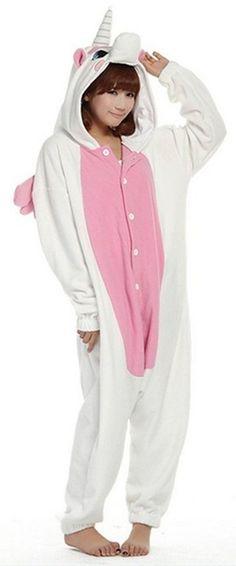 LATH.PIN Adulte Unisexe Anime Animal Costume Cosplay Combinaison Pyjama Outfit Nuit Vêtements Onesie Fleece Halloween Costume Soirée de Déguisements(M, Rose-licorne): Amazon.fr: Jeux et Jouets