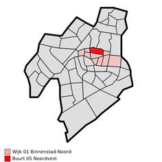 Map - NL - Leiden - Wijk 01 Binnenstad-Noord - Buurt 05 Noordvest - Wijken en buurten in Leiden - Wikipedia Leiden