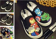 marvel painted shoes - Google Search