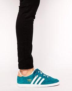 Enlarge Adidas Gazelle Teal Sneakers