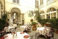 Consistently ranked among Italy's finest restaurants, Florence's Enoteca Pinchiorri is really a 50-seat show of finesse, Chef Annie Fèolde's exquisite food and one of the world's great wine lists. #bestofcity